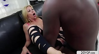 Busty Alexis gets her wet vagina fucked by a black cock