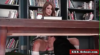 Big-titted teacher fucked by student in classroom 19