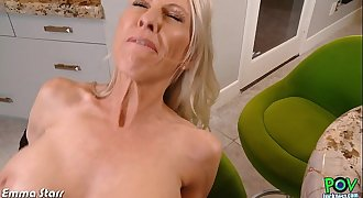 Busty Emma Starr take cock in POV