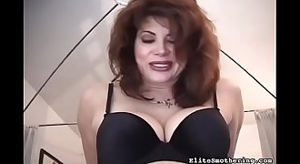 Busty hot wife humiliating her husband