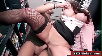 Busty schoolgirl gets her bigtit fucked at school 25
