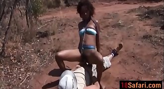 African submissive slut deepthroated and fucked hard outdoorck-vol1-1-edit-ass-1